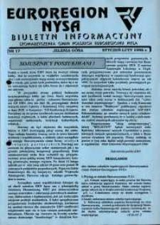 Euroregion Nysa : biuletyn informacyjny Stowarzyszenia Gmin Polskich Euroregionu Nysa, 1995, nr 17