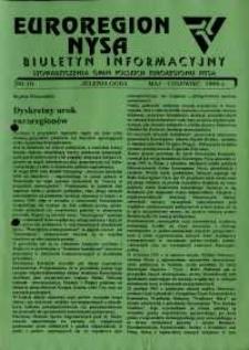 Euroregion Nysa : biuletyn informacyjny Stowarzyszenia Gmin Polskich Euroregionu Nysa, 1995, nr 19