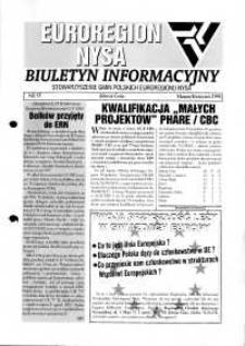 Euroregion Nysa : biuletyn informacyjny Stowarzyszenia Gmin Polskich Euroregionu Nysa, 1998, nr 35