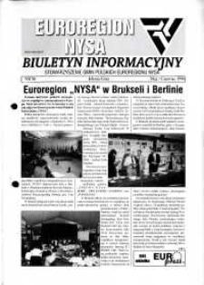 Euroregion Nysa : biuletyn informacyjny Stowarzyszenia Gmin Polskich Euroregionu Nysa, 1998, nr 36