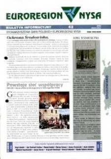Euroregion Nysa : biuletyn informacyjny Stowarzyszenia Gmin Polskich Euroregionu Nysa, 2000, nr 42