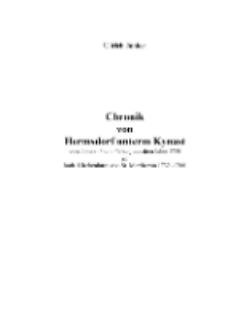 Chronik von Hermsdorf unterm Kynast : von Johann Franz Ferianj aus dem Jahre 1750 im kath. Kirchenbuch von St. Martin von 1732 -1766 [Dokument elektroniczny]