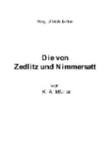 Die von Zedlitz und Nimmersatt [Dokument elektroniczny]