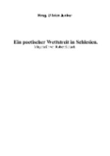 Ein poetischer Wettstreit in Schlesien [Dokument elektroniczny]