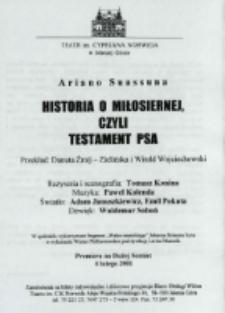 Historia o miłosiernej, czyli Testament psa - program [Dokument życia społecznego]