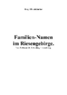 Familien-Namen im Riesengebirge [Dokument elektroniczny]