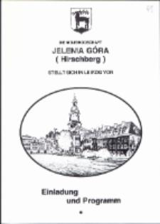 Die Wojewodschaft Jelenia Góra(Hirschberg) stellt sich in Leizig vor - zaproszenie i program [Dokumenty życia społecznego]