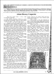 Adam Horacy Casparini. [cz. 1]