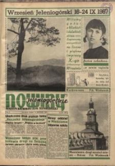 Nowiny Jeleniogórskie : magazyn ilustrowany ziemi jeleniogórskiej, R. 10, 1967, nr 37 (494)