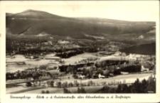 Riesengebirge - Blick v. d. Sudetenstraße über Schreiberhau n. d. Reifträger [Dokument ikonograficzny]