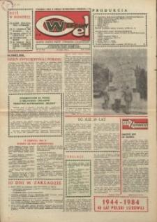 """Wspólny cel : gazeta załogi ZWCH """"Chemitex-Celwiskoza"""", 1984, nr 14 (915)"""