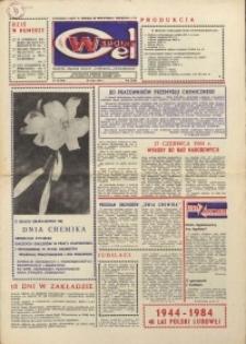 """Wspólny cel : gazeta załogi ZWCH """"Chemitex-Celwiskoza"""", 1984, nr 15 (916)"""