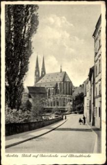 Görlitz. Blick auf Peterskirche und Altstadtbrucke [Dokument ikonograficzny]