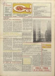 """Wspólny cel : gazeta załogi ZWCH """"Chemitex-Celwiskoza"""", 1984, nr 27 (928)"""