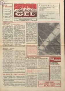"""Wspólny cel : gazeta załogi ZWCH """"Chemitex-Celwiskoza"""", 1985, nr 9 (946)"""