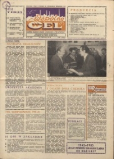 """Wspólny cel : gazeta załogi ZWCH """"Chemitex-Celwiskoza"""", 1985, nr 17 (954)"""