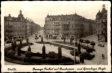 Görlitz. Danzieger Freiheit mit Brautwiesen - und Spremberger Strasse [Dokument ikonograficzny]