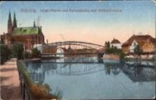 Görlitz. Neisse-Parthie mit Peterskirche und Altstadtbrucke [Dokument ikonograficzny]