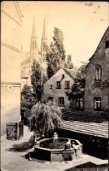 Görlitz. Maierischer Altstadwinkel mit Rohrbutte und Blick zur Peterskirche [Dokument ikonograficzny]