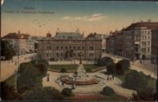 Görlitz. Postplatz mit Postgebaude, Kunstbrunnen [Dokument ikonograficzny]