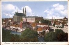 Görlitz. Altstadt mit Neisse, Peterskirche und Vogtshof. [Dokument ikonograficzny]