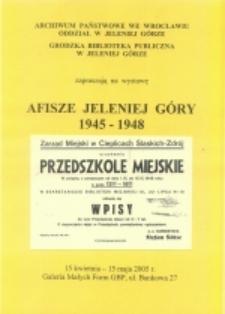 Afisze Jeleniej Góry 1945-1948 [Dokument elektroniczny]