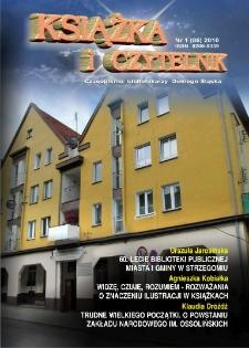 Książka i Czytelnik : czasopismo bibliotekarzy Dolnego Śląska, 2010, nr 1