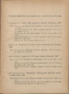 Wybór recenzji za okres 1.X.1967-31.VII.1968