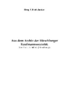 Aus dem Archiv der Hirschberger Kaufmannssozietät [Dokument elektroniczny]