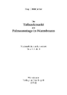 Der Tallsackmarkt am Palmsonntage in Warmbrunn [Dokument elektroniczny]