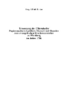 Ernennung des Ullersdorfer Papiermachers Gottlieb Ehrenfried Rumler zum evangelischen Kirchenvorsteher zu Flinsberg im Jahre 1786 [Dokument elektroniczny]