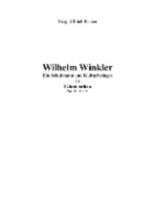 Wilhelm Winkler Ein Schulmann und Kulturbringer in Schreiberhau [Dokument elektroniczny]