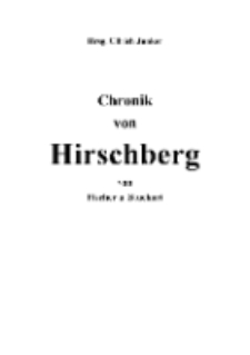 Chronik von Hirschberg [Dokument elektroniczny]