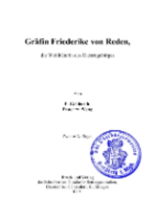 Gräfin Friederike von Reden, die Wohltäterin des Riesengebirges [Dokument elektroniczny]