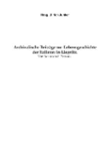 Archivalische Beiträge zur Lebensgeschichte der Italiener in Liegnitz [Dokument elektroniczny]