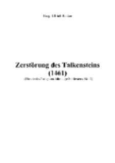 Zerstörung des Talkensteins (1461) [Dokument elektroniczny]