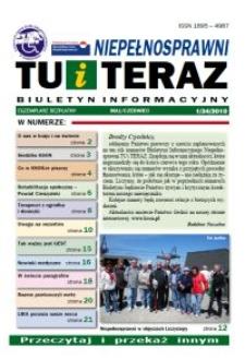 Niepełnosprawni Tu i Teraz : biuletyn informacyjny, 2010, nr 1 (34)