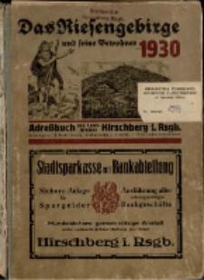 Adressbuch/Einowhnerbuch. Landkreis Hirschberg i. Rsgb. Einschließlich der Stadt Schmiedeberg und den Gemeinden aus dem Kreise : 1930