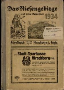 Adressbuch/Einowhnerbuch. Landkreis Hirschberg i. Rsgb. Einschl. der Städte Kupferberg und Schmiedeberg und den Gemeinden aus dem Kreise : 1934