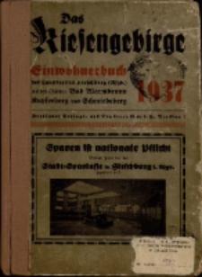 Adressbuch/Einwohnerbuch für den Landkreis Hirschberg mit den Städten Bad Warmbrunn, Kupferberg, Schmiedeberg und allen Gemeinden : 1937