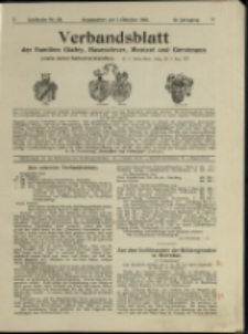Verbandsblatt der Familien Glafey, Hasenclever, Mentzel und Gerstmann, Jg. 12, 1921, nr 28