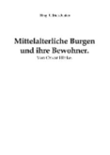 Mittelalterliche Burgen und ihre Bewohner [Dokument elektroniczny]