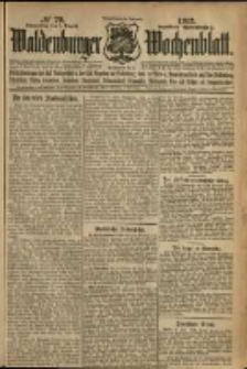 Waldenburger Wochenblatt, Jg. 58, 1912, nr 79