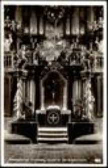 Jelenia Góra - kościół pw. Podwyższenia Świętego Krzyża (wnętrze - ołtarz główny XVIII w.) [Dokument ikonograficzny]