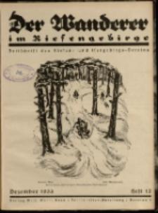 Der Wanderer im Riesengebirge, 1933, nr 12