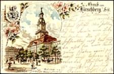 Grus aus Hirschberg i. Schl. Rathaus [Dokument ikonograficzny]