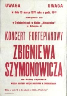 Koncert Fortepianowy Zbigniewa Szymonowicza