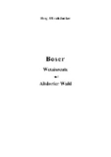 Boser Wetzisreute und Altdorfer Wald [Dokument elektroniczny]