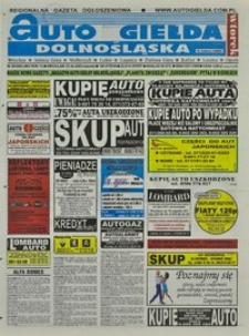 Auto Giełda Dolnośląska : regionalna gazeta ogłoszeniowa, 2003, nr 20 (982) [25.02]
