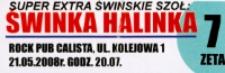 Bilet na koncert zespołu Świnka Halinka [Dokument życia społecznego]